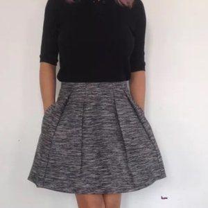 Madewell Countdown Tweed Pleated Mini skirt
